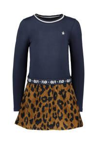 Like Flo jurk met panterprint donkerblauw/bruin, Donkerblauw/bruin