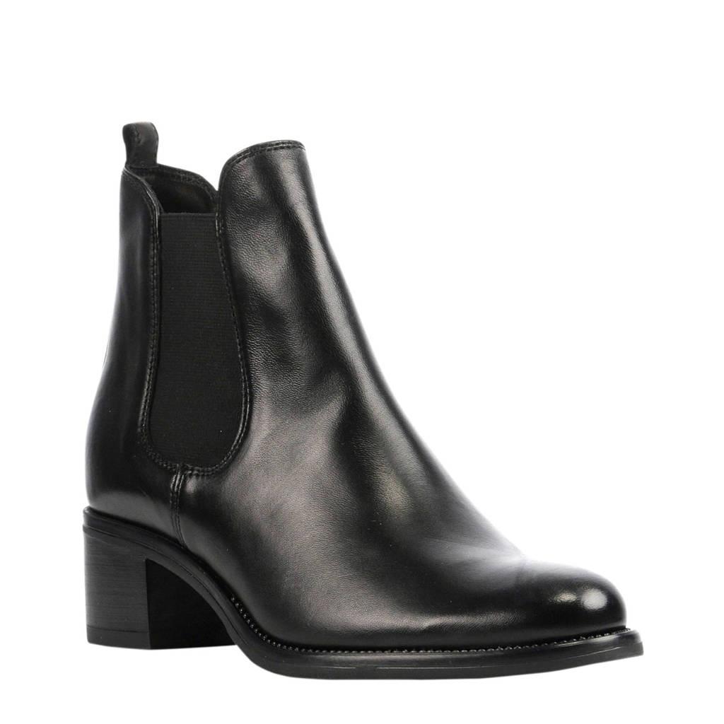 Stefano Lauran   Palermo II leren chelsea boots zwart, Zwart