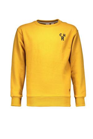 sweater Charlie met printopdruk geel
