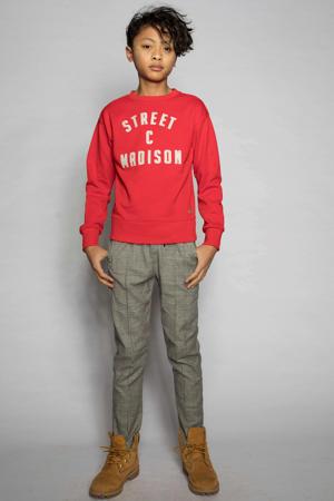 sweater Charlie met logo rood