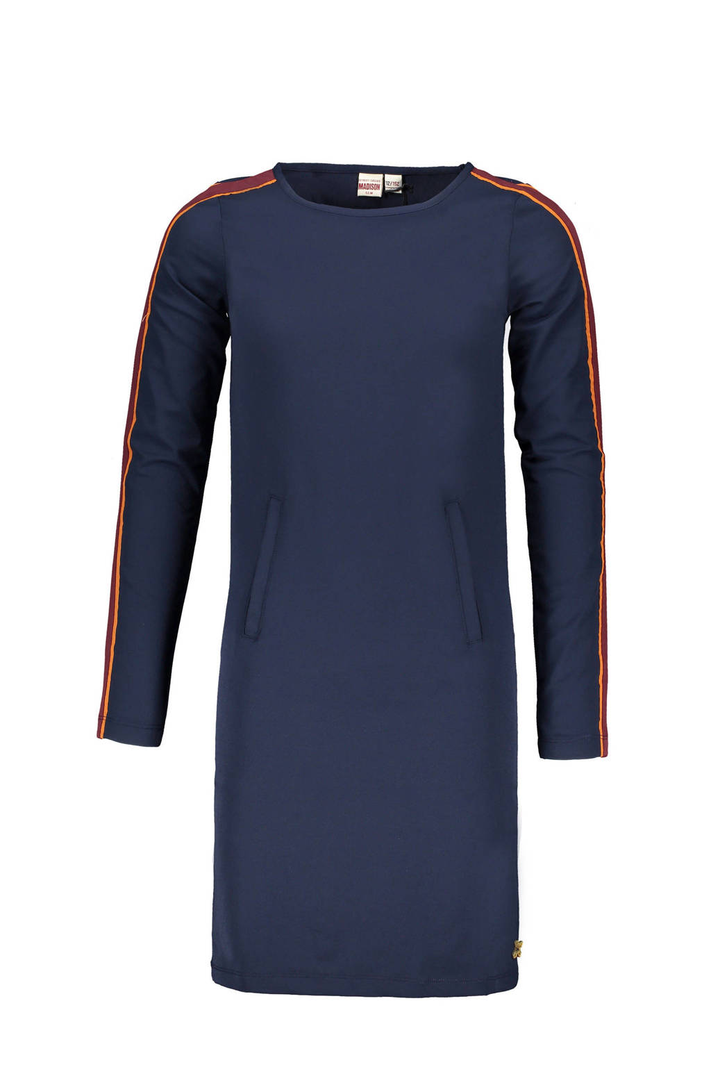 Street called Madison jersey jurk Yes yes met contrastbies donkerblauw, Donkerblauw