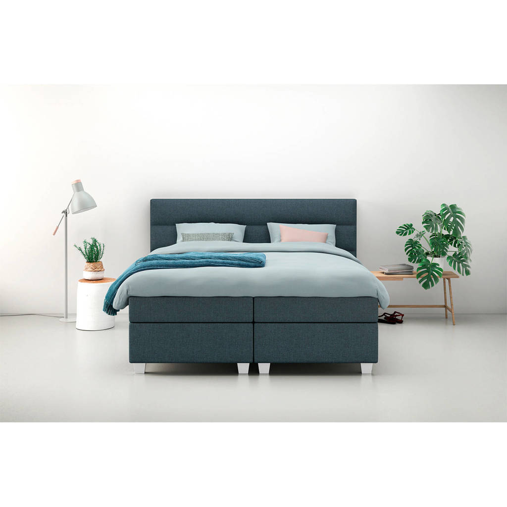 Karlsson Beter Bed complete boxspring Autentik Lina (160x200 cm), Antraciet