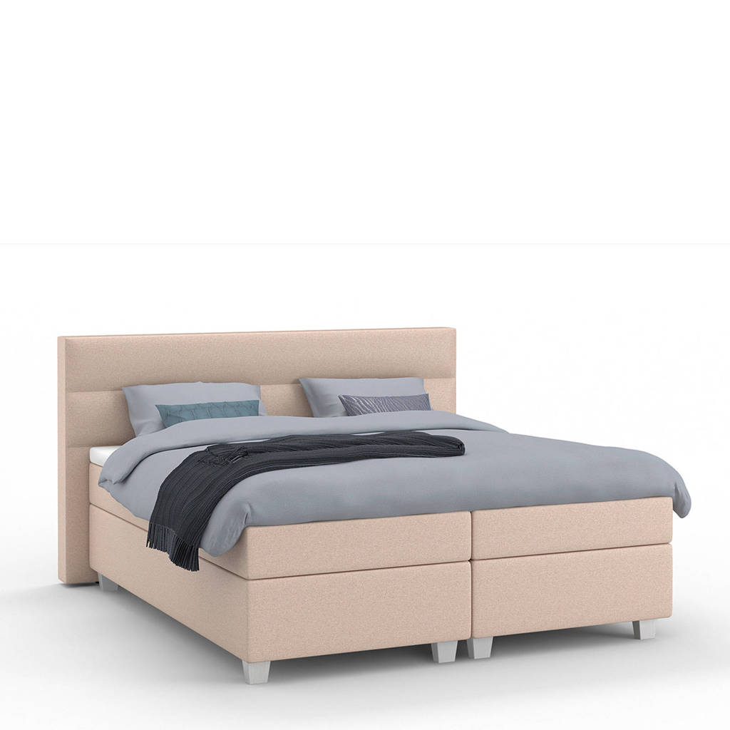 Karlsson Beter Bed complete boxspring Autentik Lina (180x210 cm), Zalm