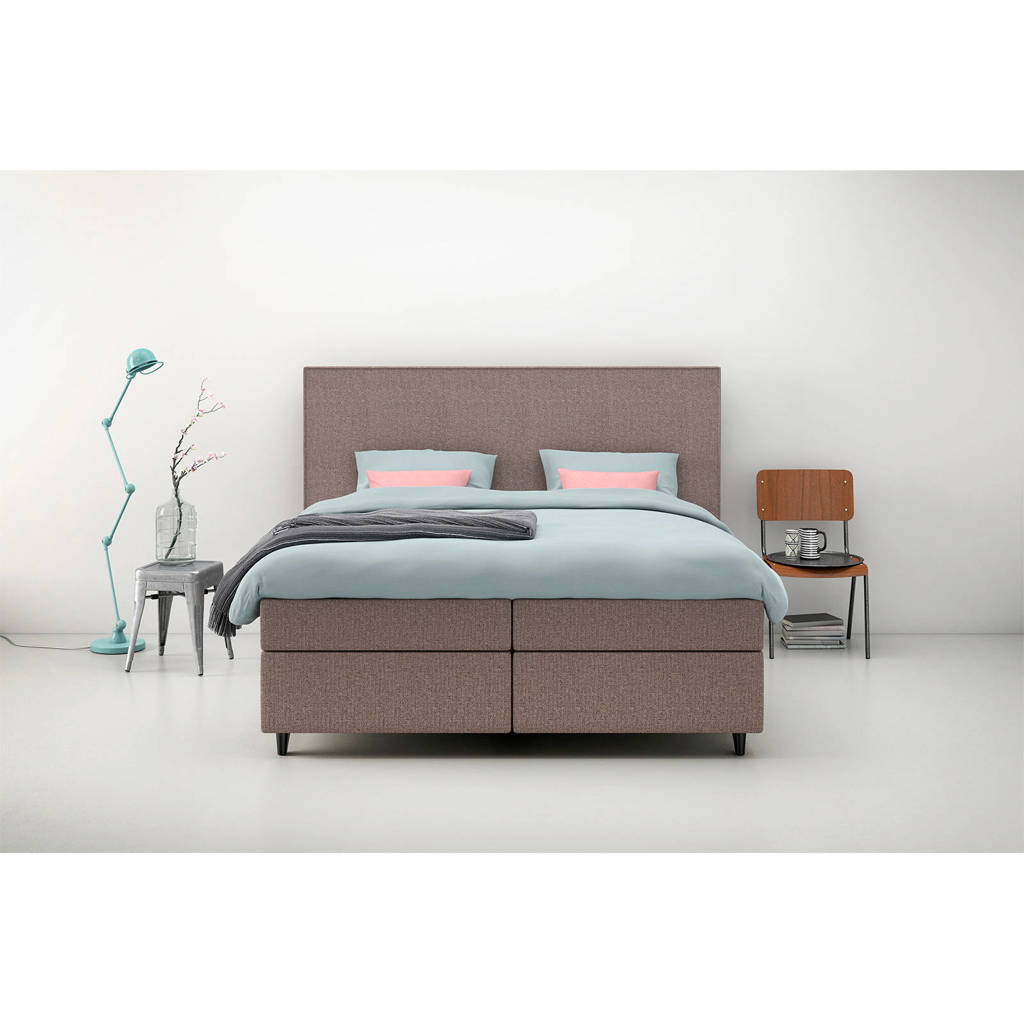 Karlsson Beter Bed complete boxspring Unik Lista (140x200 cm), Grijs