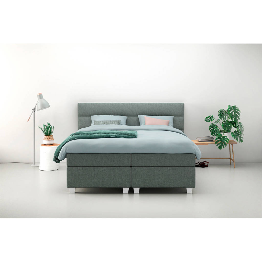 Karlsson Beter Bed complete boxspring Autentik Lina (160x200 cm), Groen