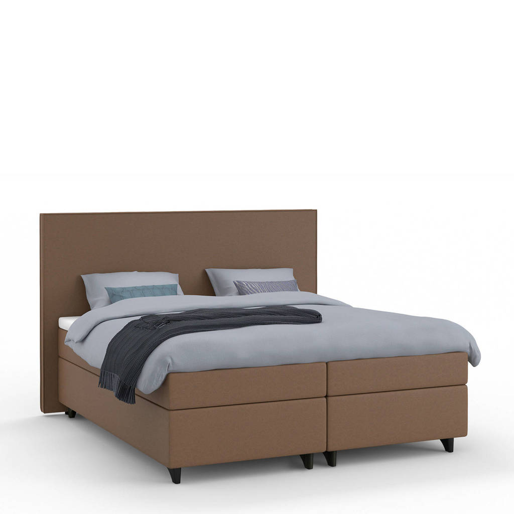 Karlsson Beter Bed complete boxspring Unik Lista (160x210 cm), Bruin