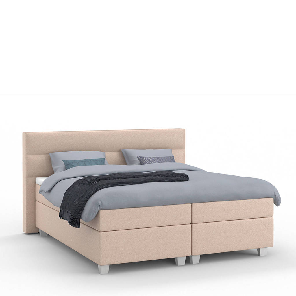 Karlsson Beter Bed complete boxspring Autentik Lina (160x210 cm), Zalm