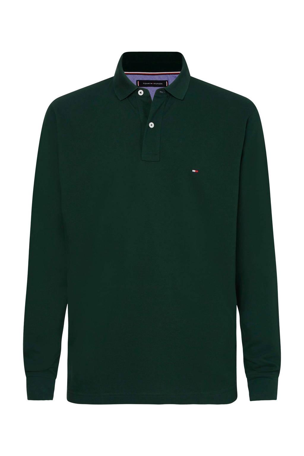 Tommy Hilfiger regular fit polo met logo donkergroen, Donkergroen