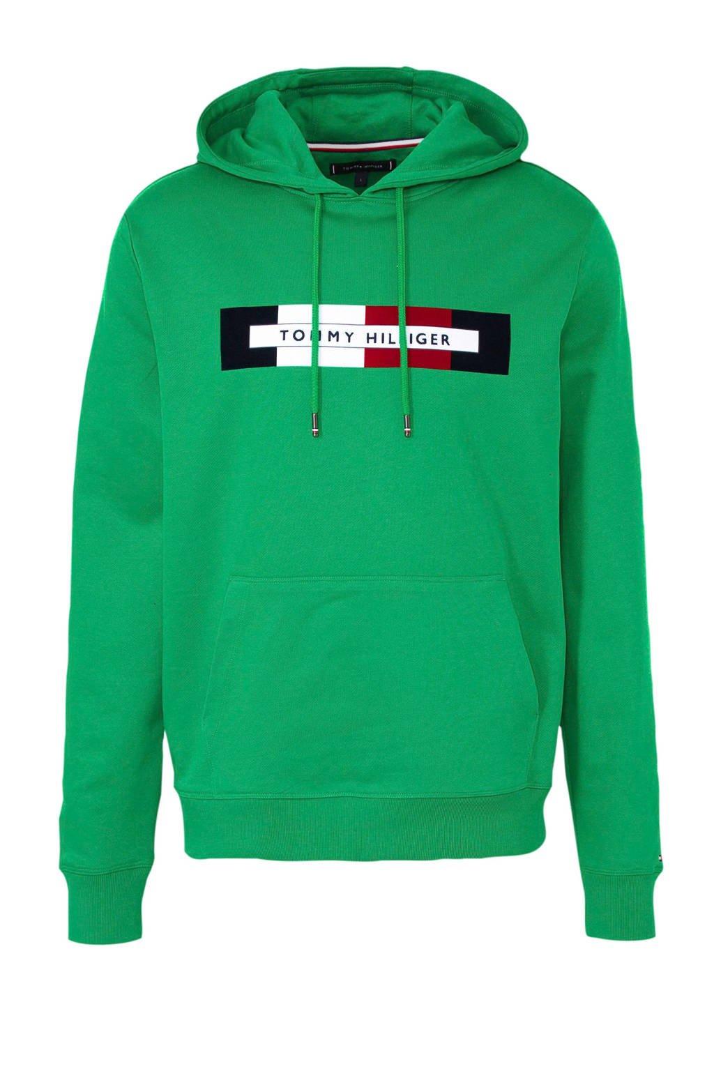 Tommy Hilfiger hoodie met printopdruk groen, Groen