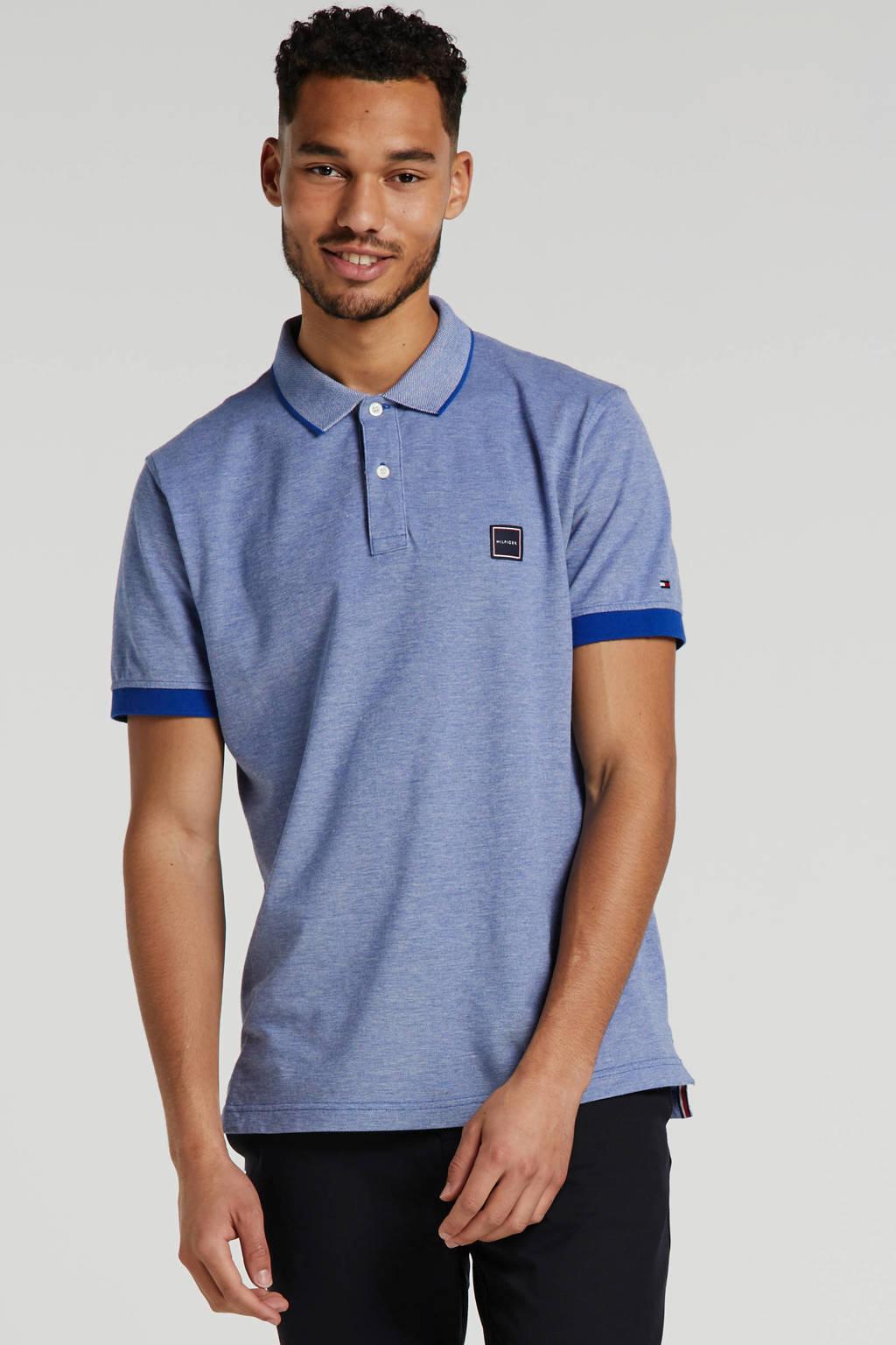 Tommy Hilfiger regular fit polo met logo blauw, Blauw
