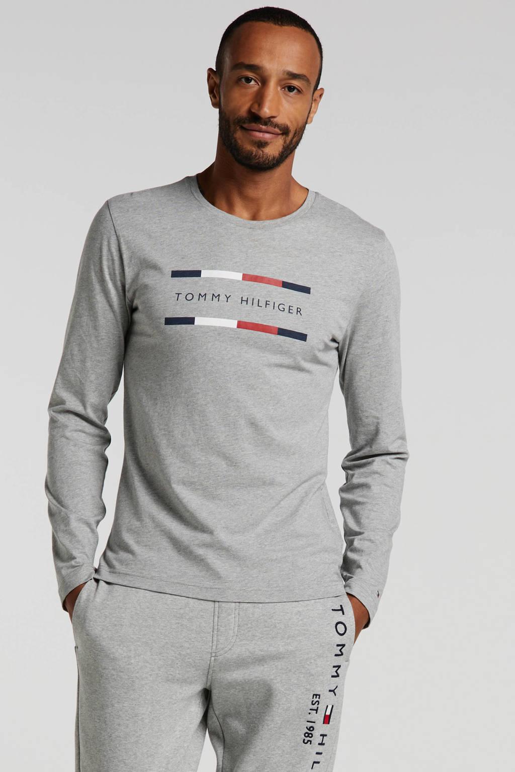 Tommy Hilfiger T-shirt van biologisch katoen grijs, Grijs