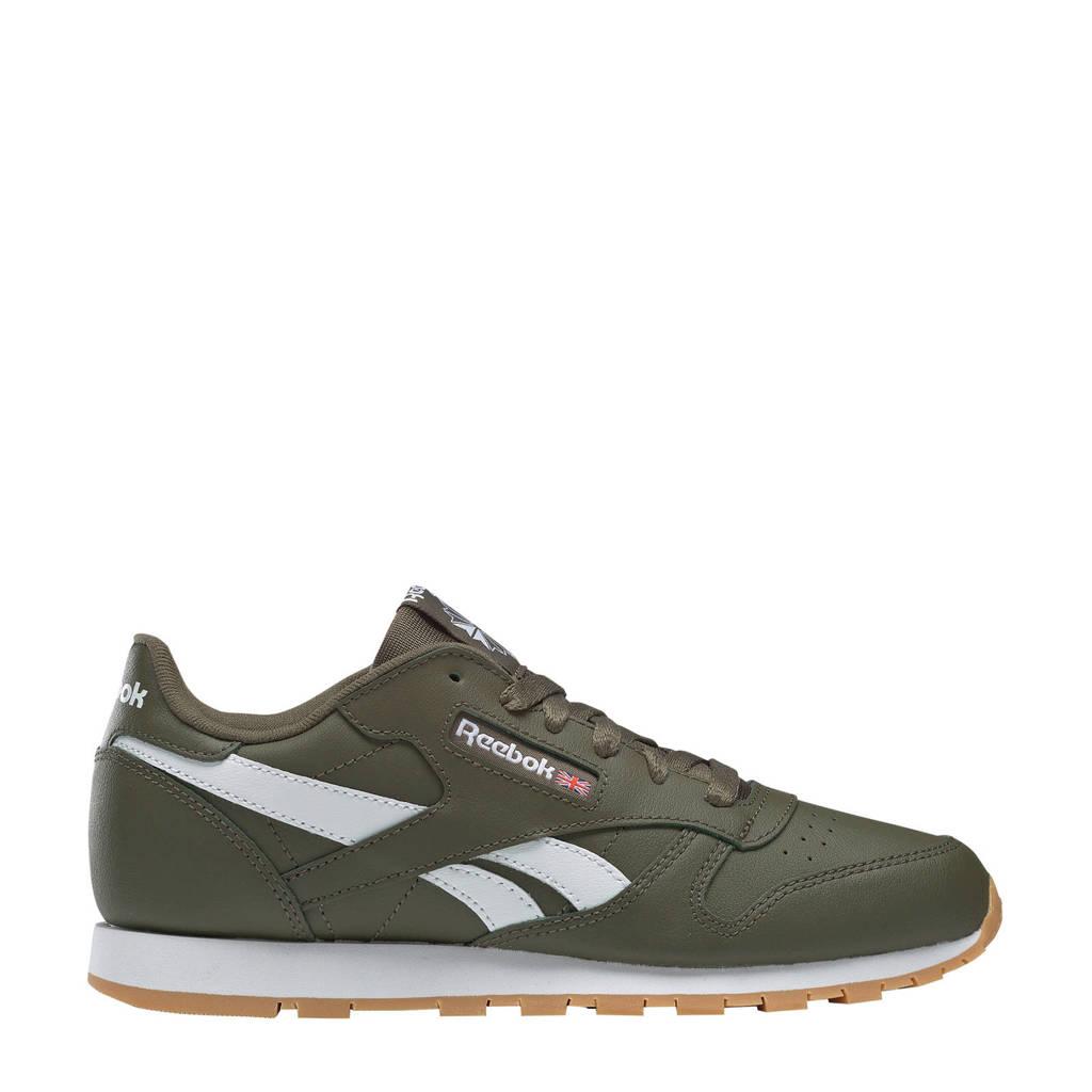 Reebok  Classic Leather sneakers kakigroen, Kakigroen/wit