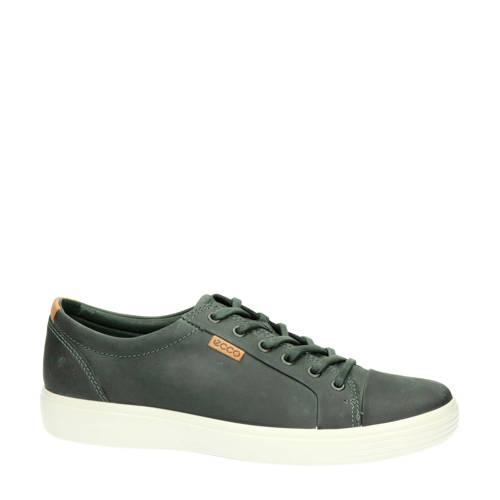 Ecco Soft 7 leren sneakers grijs