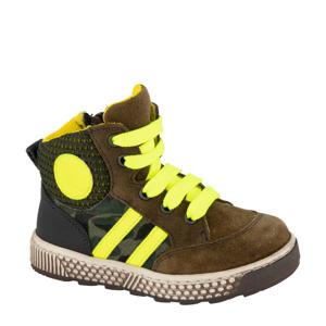 hoge sneakers bruin/geel