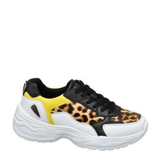 chunky sneakers met panterprint