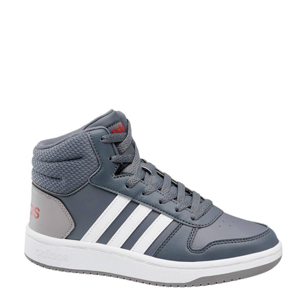 adidas  Hoops Mid 2.0 sneakers grijs/wit, Grijs/wit