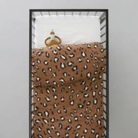 whkmp's own ledikant dekbedovertrek (100x135 cm), Bruin, Baby (100 cm breed)