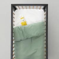 whkmp's own flanellen ledikant dekbedovertrek (100x135 cm), Baby (100 cm breed), Groen