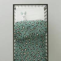 whkmp's own ledikant dekbedovertrek (100x135 cm), Groen, Baby (100 cm breed)