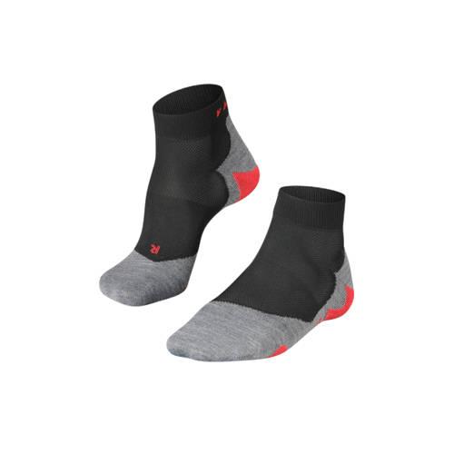 Falke RU5 Lightweight Short Heren Running sokken (zwart-rood) 44-45