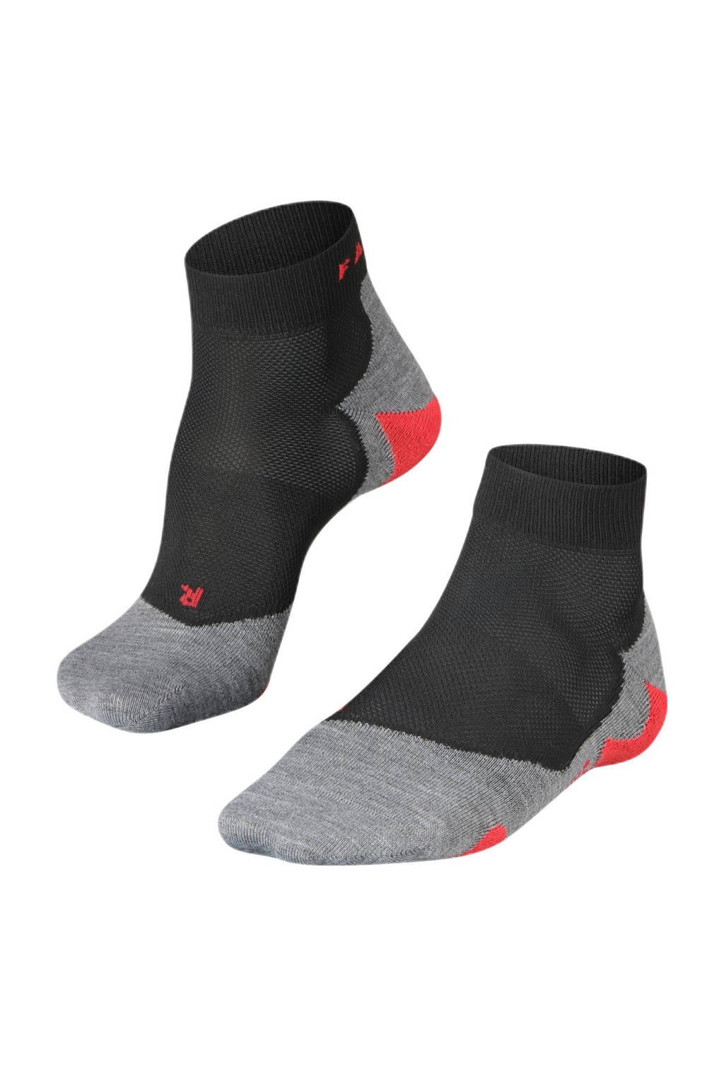Falke Sport   RU5 Lightweight Short hardloopsokken zwart, Zwart/grijs/rood