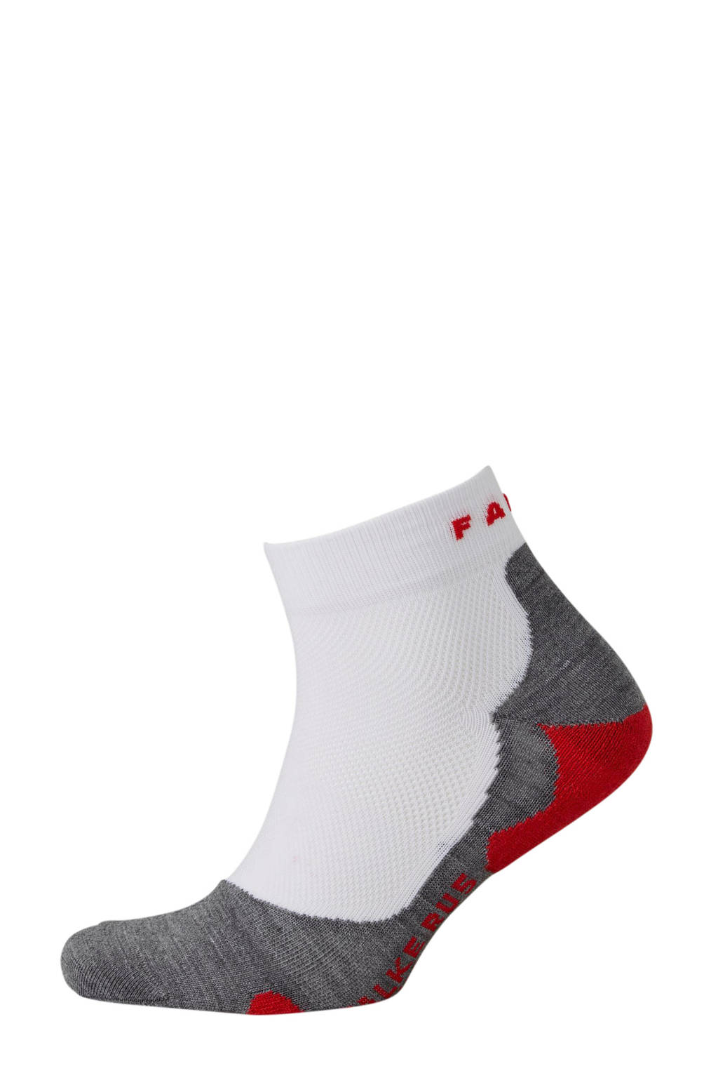 Falke Sport   RU5 Short hardloopsokken wit, Wit/grijs/rood