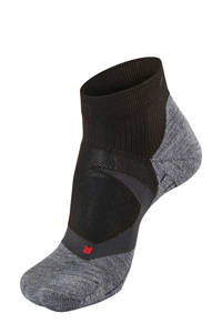 Falke Sport   RU4 Cool Short hardloopsokken zwart, Zwart/grijs