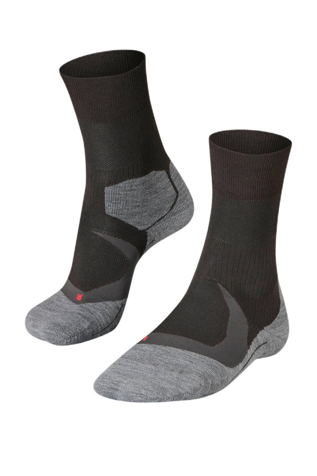Falke Sport   RU4 Cool hardloopsokken zwart, Zwart/grijs
