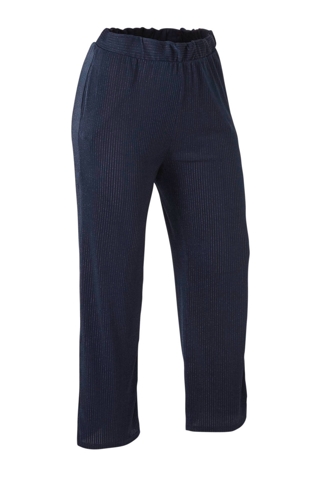 ONLY CARMAKOMA loose fit broek donkerblauw, Donkerblauw