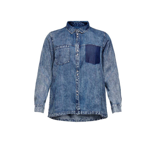 ONLY CARMAKOMA blouse blauw