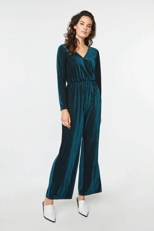 corduroy jumpsuit blauw