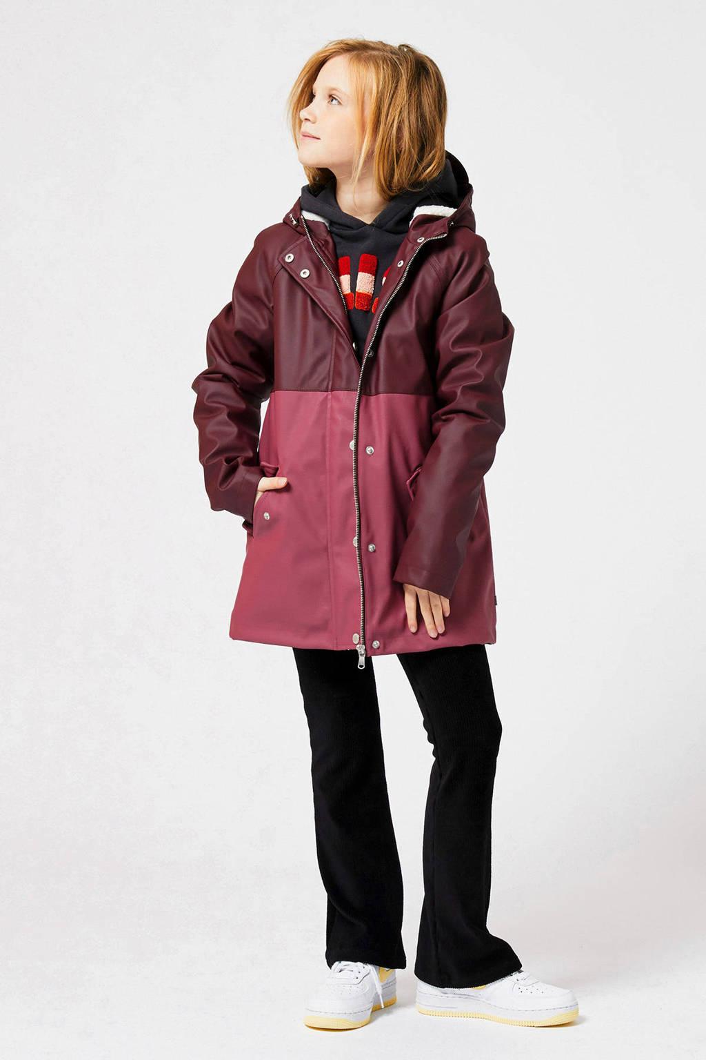 America Today Junior regenjas rood Janet, Donkerrood/roze