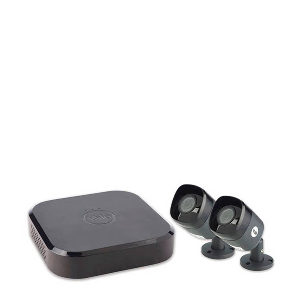 Yale SV-4C-2ABFX smart home CCTV kit, Zwart