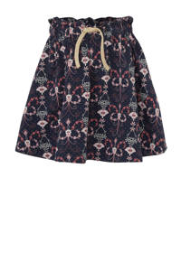 Small Rags rok met all over print donkerblauw, Donkerblauw