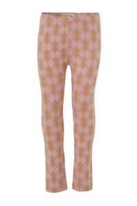 Small Rags legging met all over print roze/oker, Roze/oker