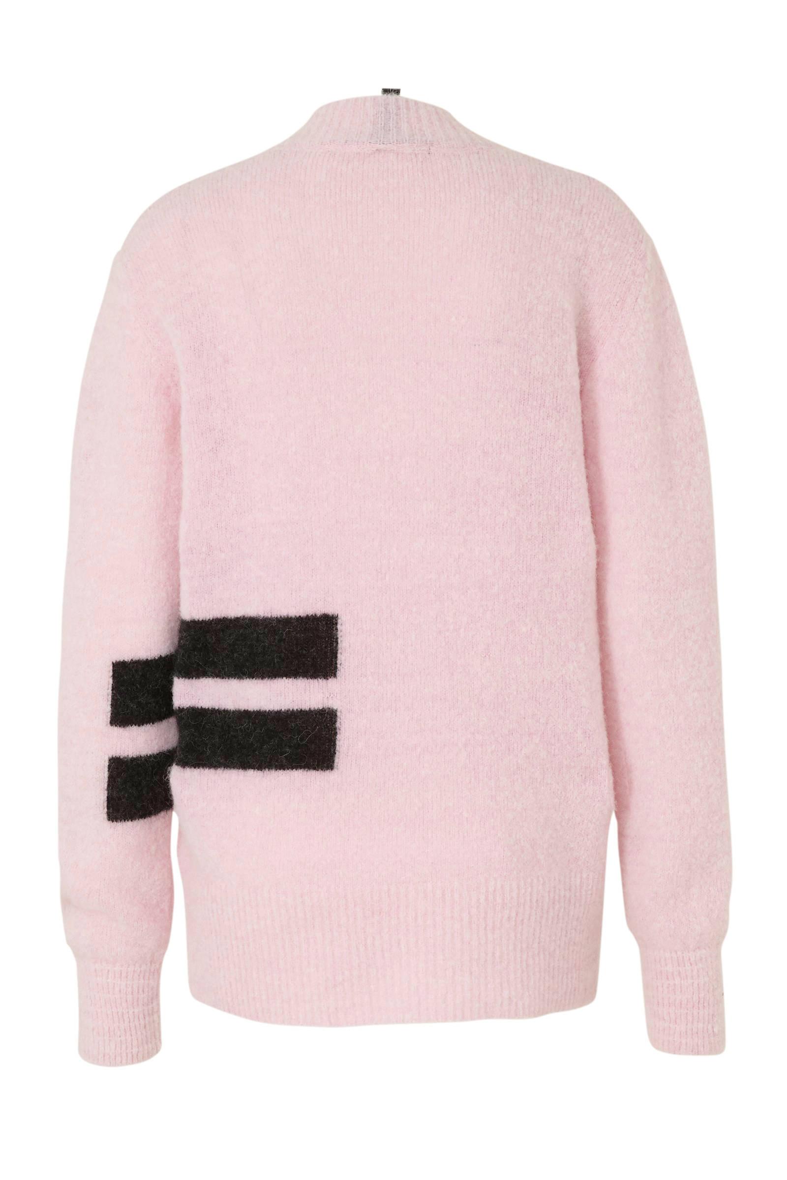 10DAYS gebreide trui met wol lichtroze