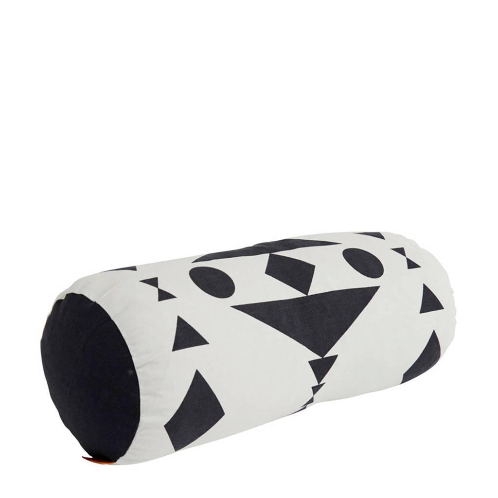 OYOY Living sierkussen  (20x50 cm), Wit/zwart
