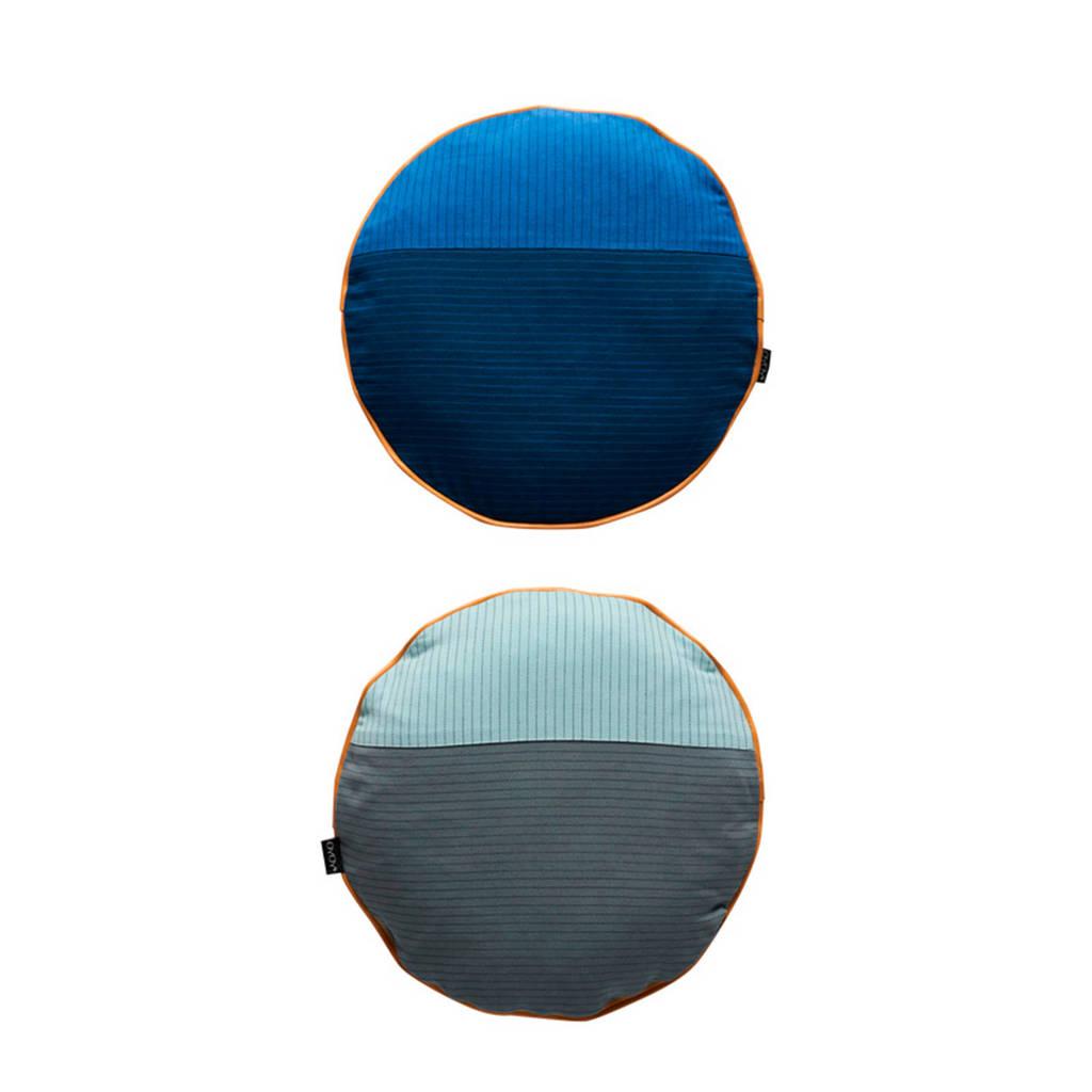OYOY Living sierkussen (Ø38 cm), Blauw/donkerblauw