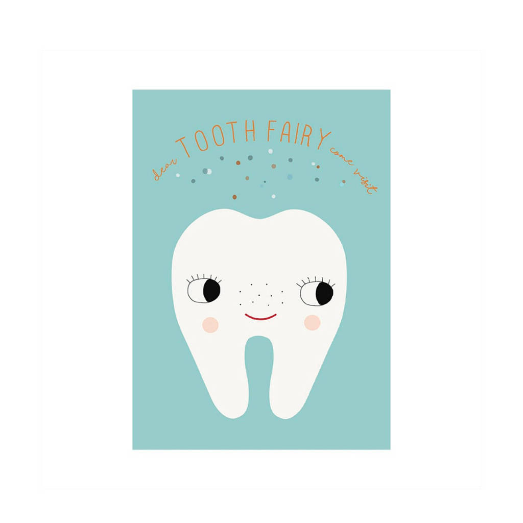OYOY Mini poster Tooth Fairy, Blauw