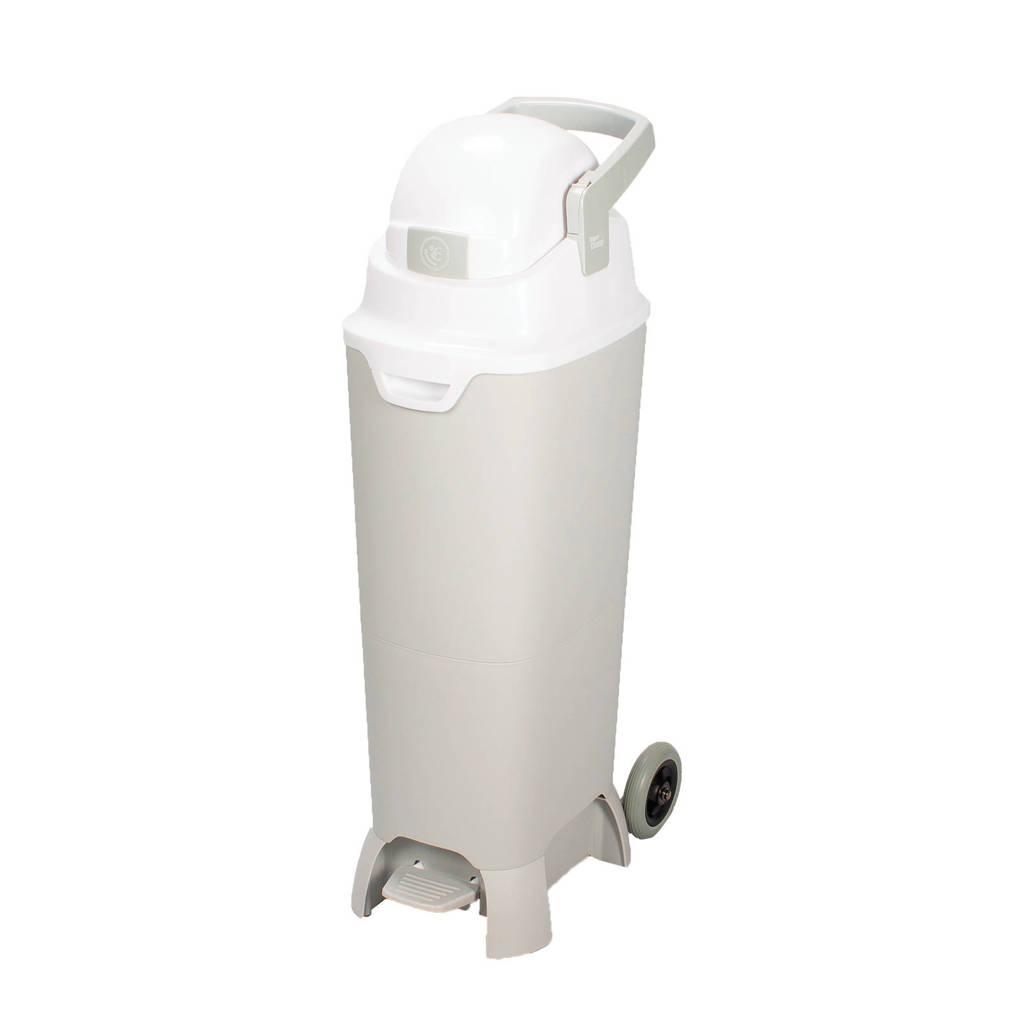 Diaper Champ One Maxi handsfree Plus reukloze luieremmer met wieltjes (93 cm), Silver - White