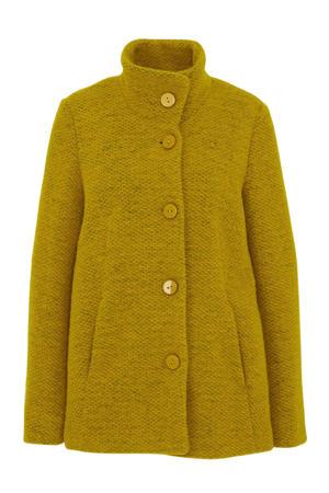 coat Janine met wol groen