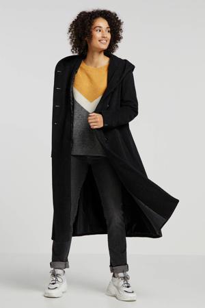 coat Britt met wol antraciet