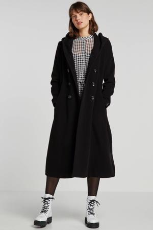 coat Britt met wol zwart