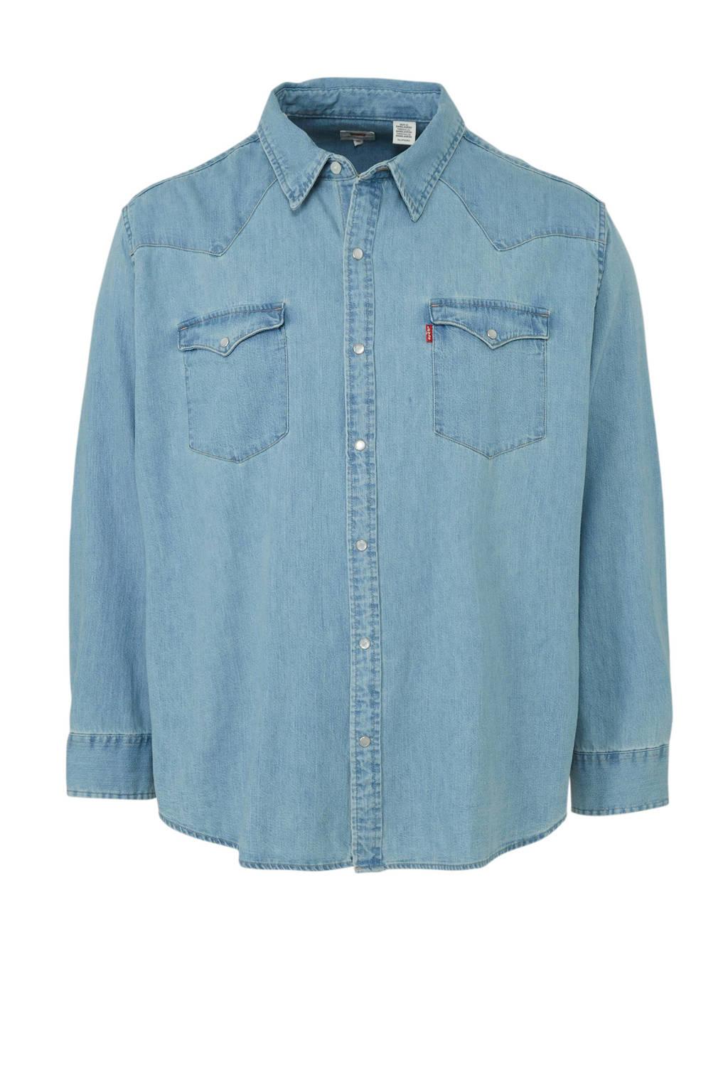 Levi's Big and Tall regular fit denim overhemd, Light denim