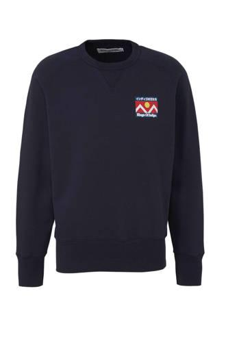 sweater van biologisch katoen marine