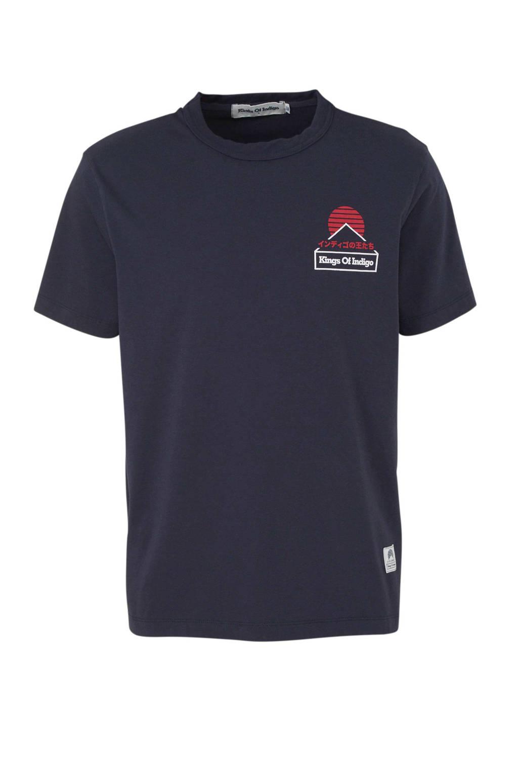 Kings of Indigo T-shirt van biologisch katoen marine, Marine