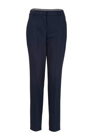straight fit pantalon blauw