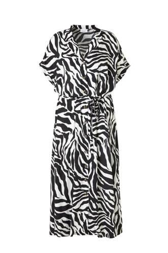 XL Yessica blousejurk met zebraprint