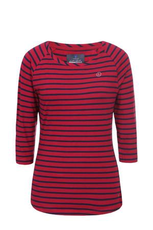 T-shirt Hirvikallio streep rood/blauw