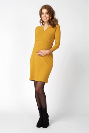 zwangerschaps- en voedingsjurk geel